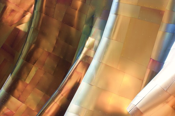 Seattle's Experience Music Project, a sea of metallic undulations by Alex Mendez