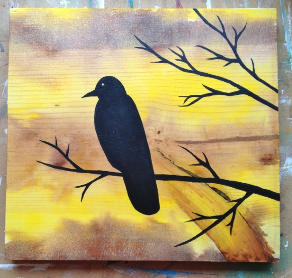 Crow at some stage of an Autumn day by Alex Mendez